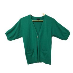 Talbots Emerald Green Short Sleeve Cardigan Small